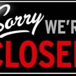 Soory were closed